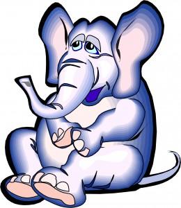 zittende olifant